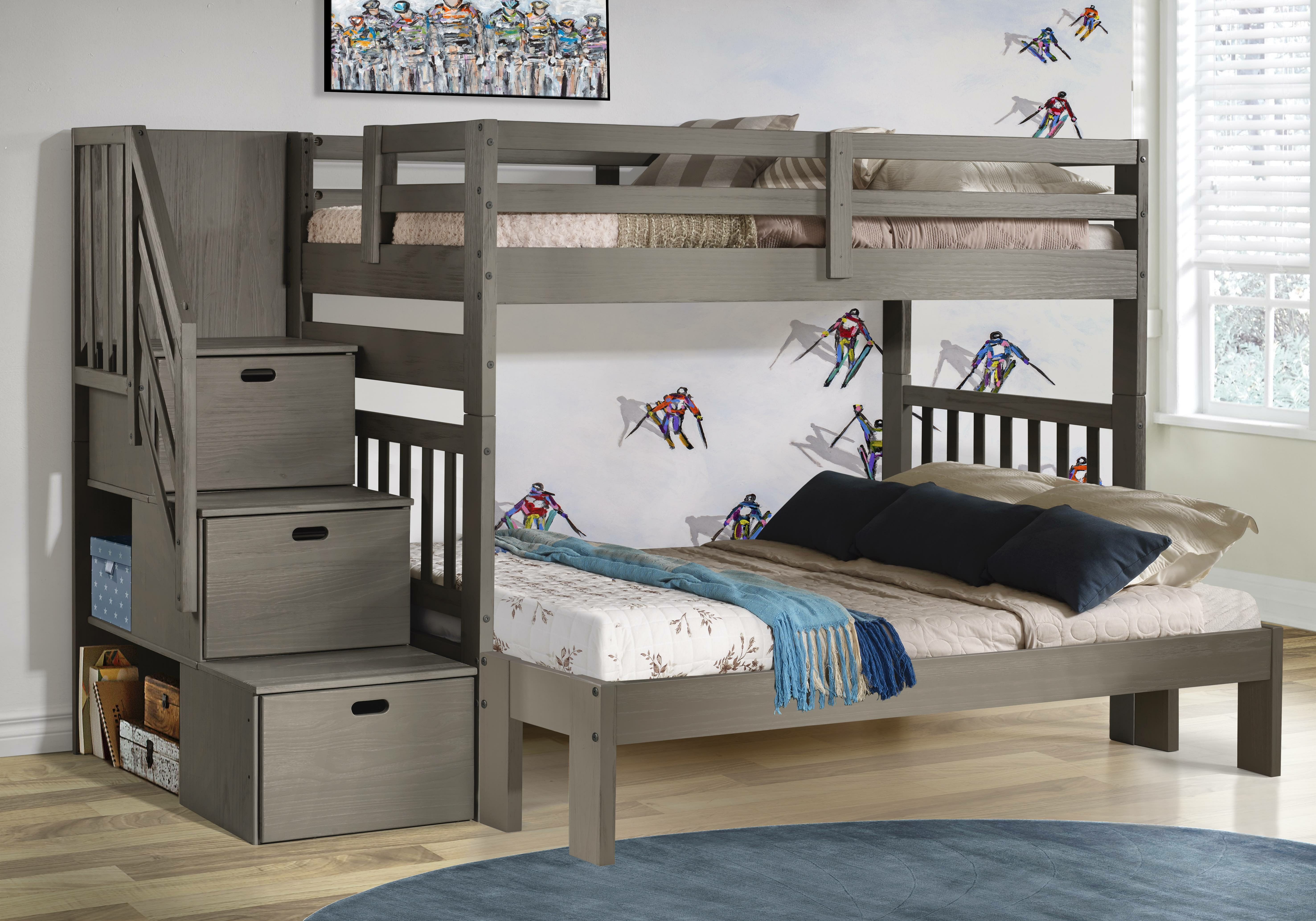 Picture of: Winston Porter Jenafir Twin Over Full Bunk Bed With Drawers Reviews Wayfair
