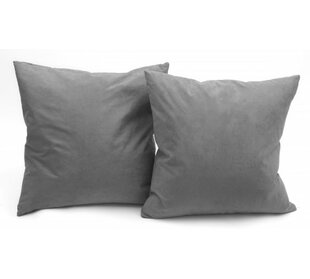 Christoph Microsuede Couch Throw Pillow (Set of 2)