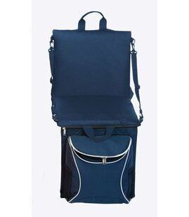 Backpack Insulated Cooler Folding Stadium Seat with Cushion