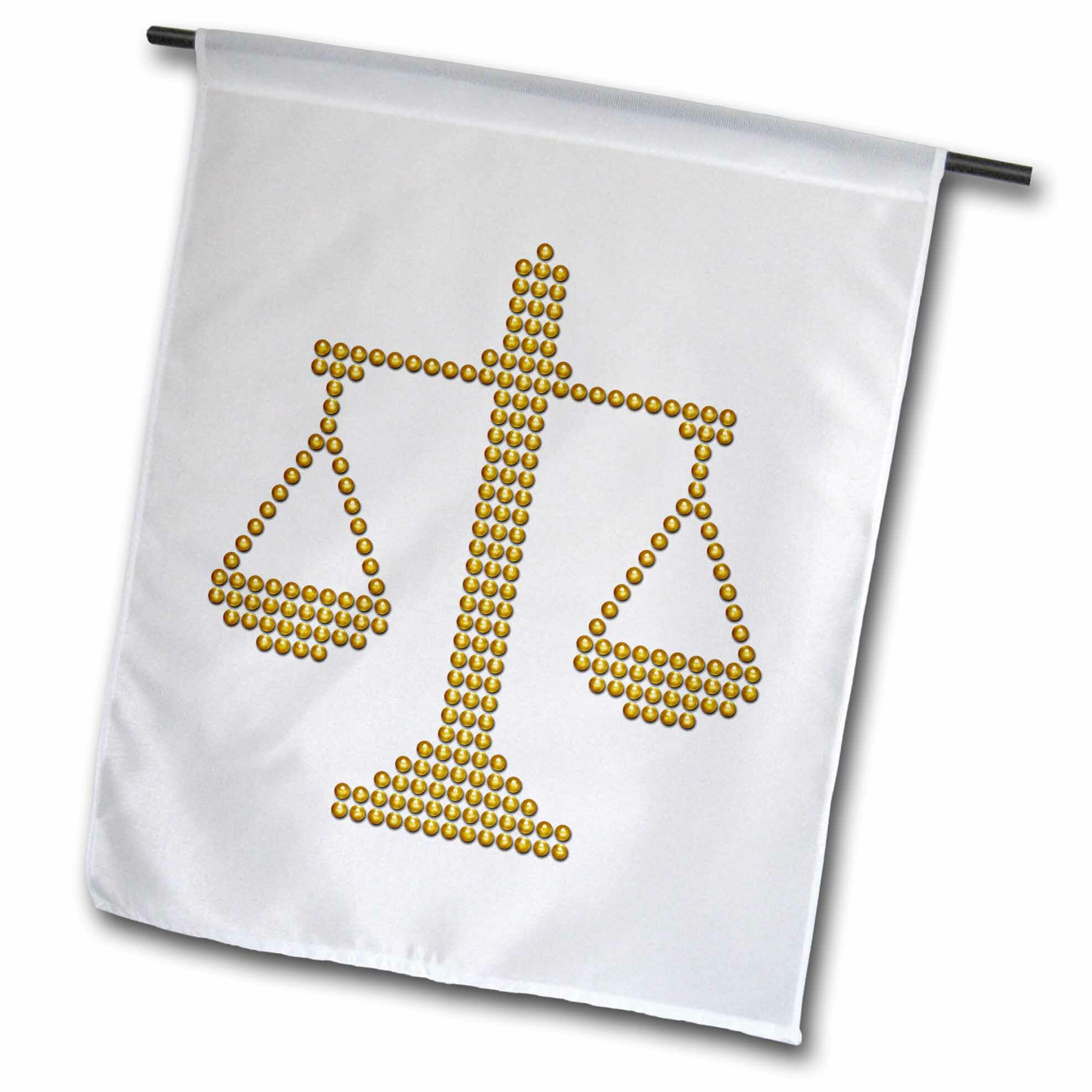 3drose Dotted Scale Of Justice Polyester 27 X 18 In Garden Flag Wayfair