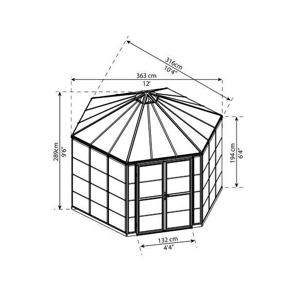 Oasis 12 Ft. W x 10 Ft. D Greenhouse
