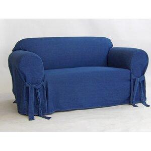 Authentic Box Cushion Loveseat Slipcover