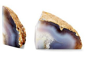 Pair Natural Agate Bookend (Set of 2)