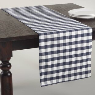 Gingham Design Table Runner