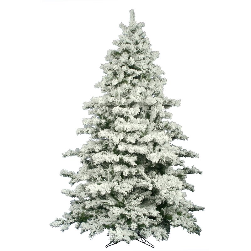 The Holiday Aisle Flocked Alaskan 9' White Pine Artificial Unlit