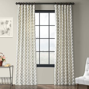 e3d652adf Balfour Graphic Printed Cotton Rod Pocket Single Curtain Panel