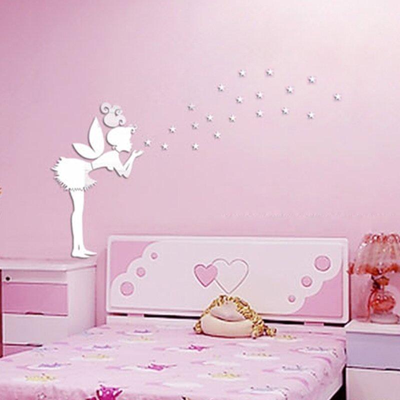 Walplus Tinker Bell Girl Mirror Wall Art Wall Decal & Reviews   Wayfair