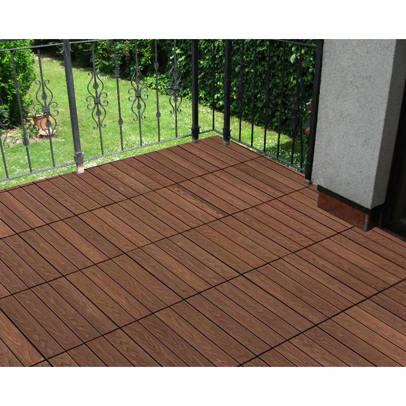 Bamboo Composite Interlocking Deck