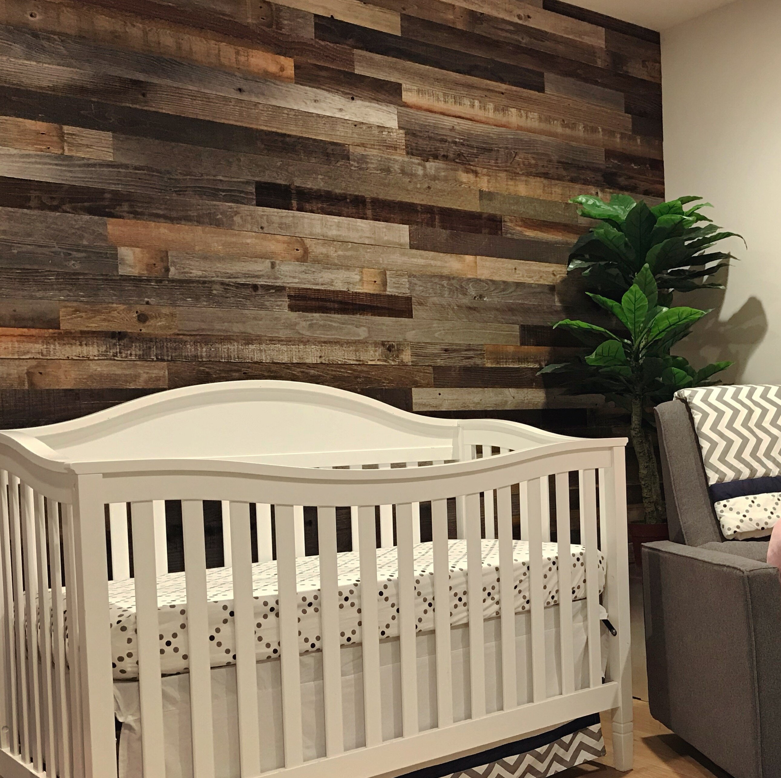 3 Reclaimed Barnwood L And Stick Wall Paneling In Mixed Gray Brown