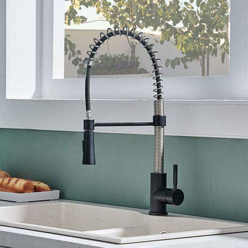Hotis Pull Down Single Handle Kitchen Faucet Wayfair