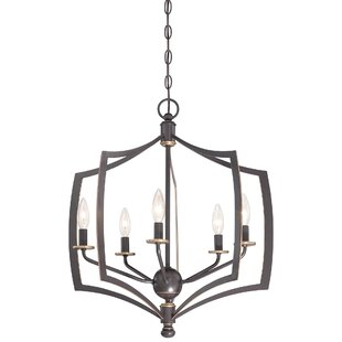 Stotts 5-Light Geometric Chandelier by Alcott Hill