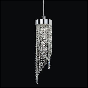 Intuition 1-Light Crystal Pendant by Glow Lighting
