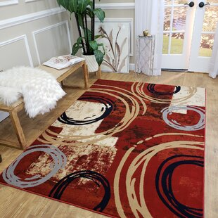 Knowland Decorative Modern Contemporary Southwestern Red/Beige Area Rug