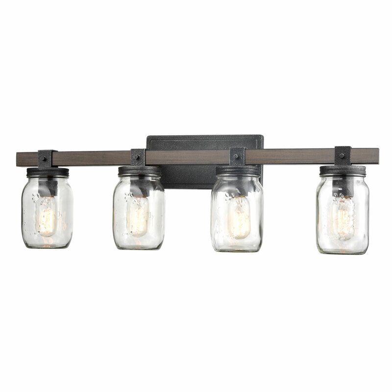 Gracie Oaks Adames Vintage 4 Light Vanity Light Reviews Wayfair