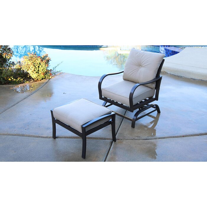 Awesome Bevins North Ridge Patio Chair With Cushions And Ottoman Ibusinesslaw Wood Chair Design Ideas Ibusinesslaworg