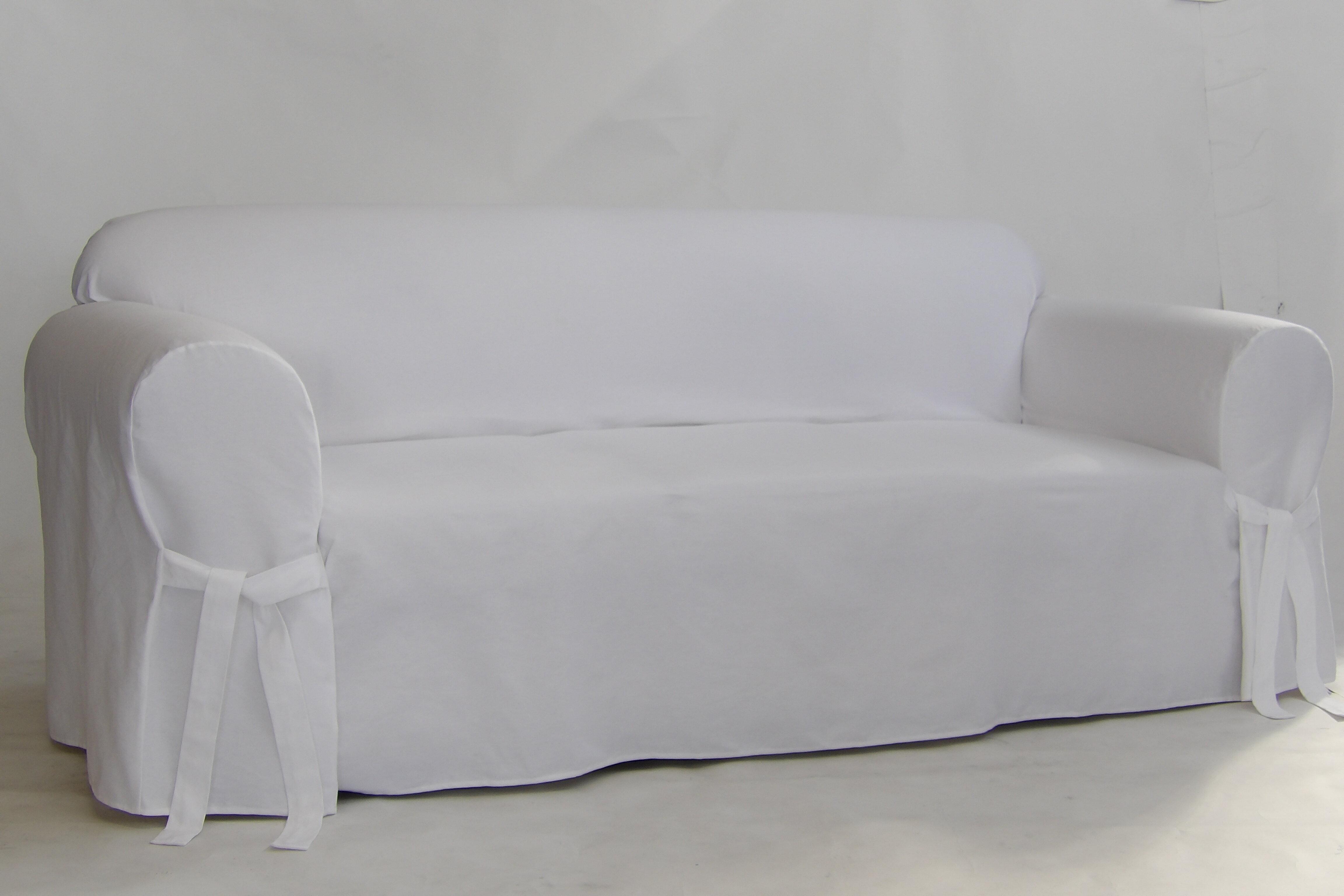 Alcott Hill Twill Box Cushion Sofa