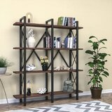 Gehrke 70'' H x 59'' W Metal Etagere Bookcase by 17 Stories