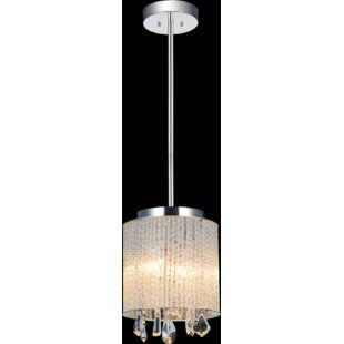 2-Light LED Crystal Pendant by CWI Lighting