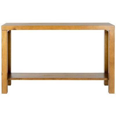 Millwood Pines Dowdy Console Table Color: Pecan