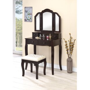 Compare prices Lizbeth Vanity Set with Mirror By Charlton Home