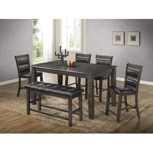 6 Piece Dining Set by Best Quality Furniture