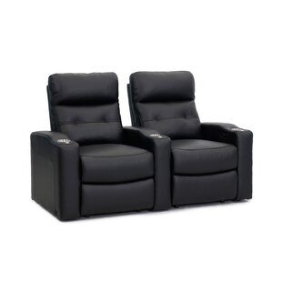 Power Leather Home Theater Row of 2