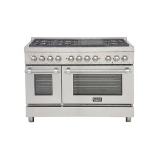 Professional 48 Free-standing Dual Fuel Range with Griddle by Kucht