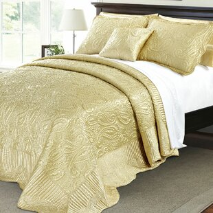 Quilted Satin 4 Piece Quilt Set
