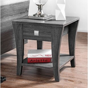 Plumb Wooden End Table by Winston Porter