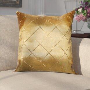 Hawkin Silky Checks Decorative Throw Pillow