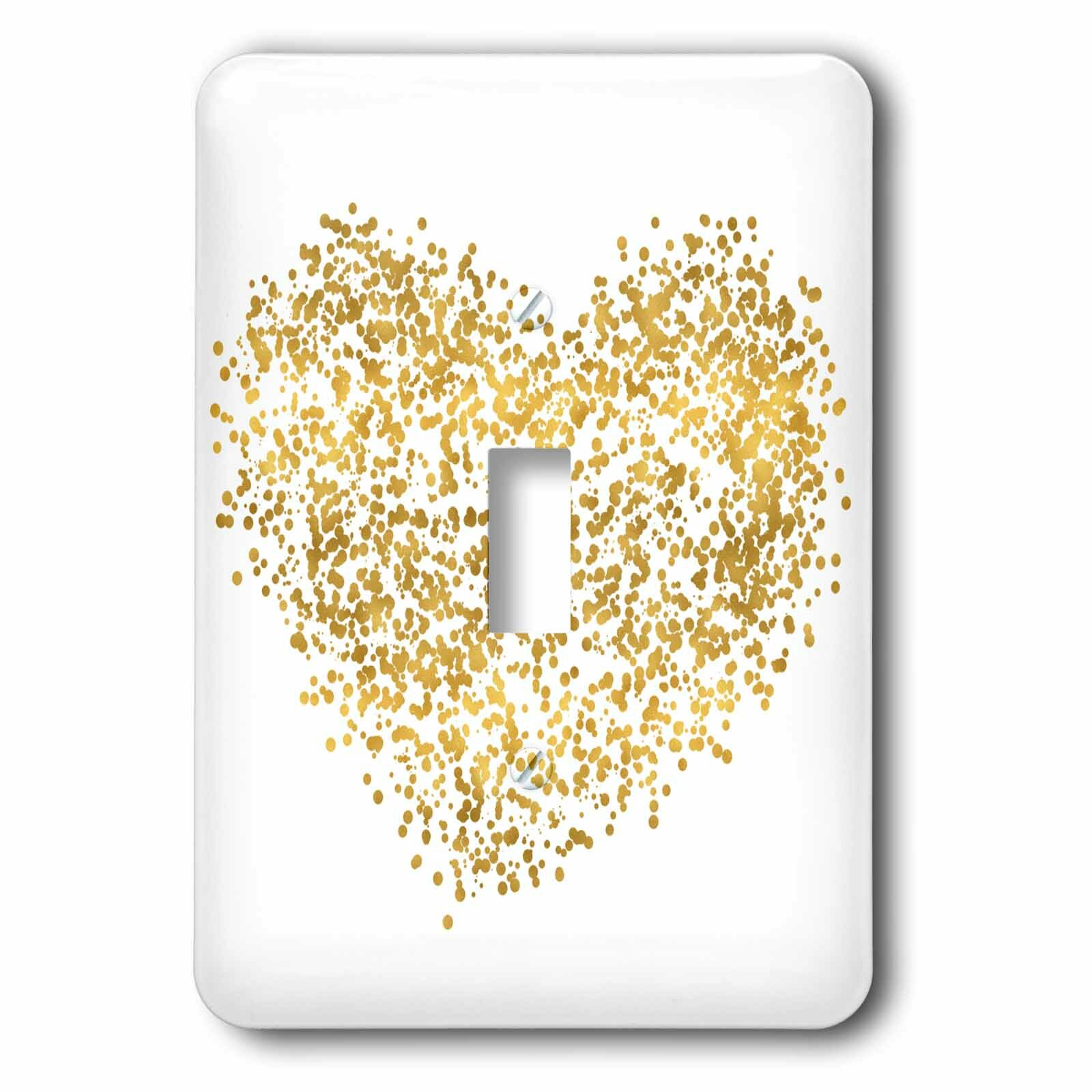 3drose Dotted Heart 1 Gang Toggle Light Switch Wall Plate Wayfair