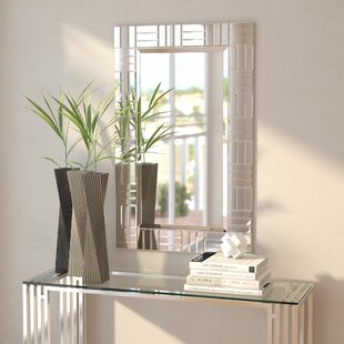 Top Silver Frame Accent Mirror By Orren Ellis