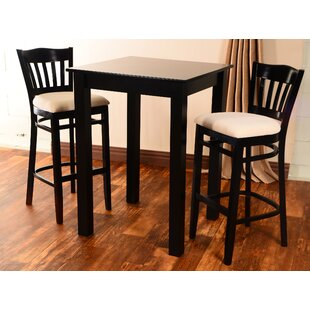 Eberhard 3 Piece Pub Table Set Modern