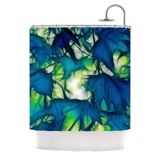 Leaves Single Shower Curtain