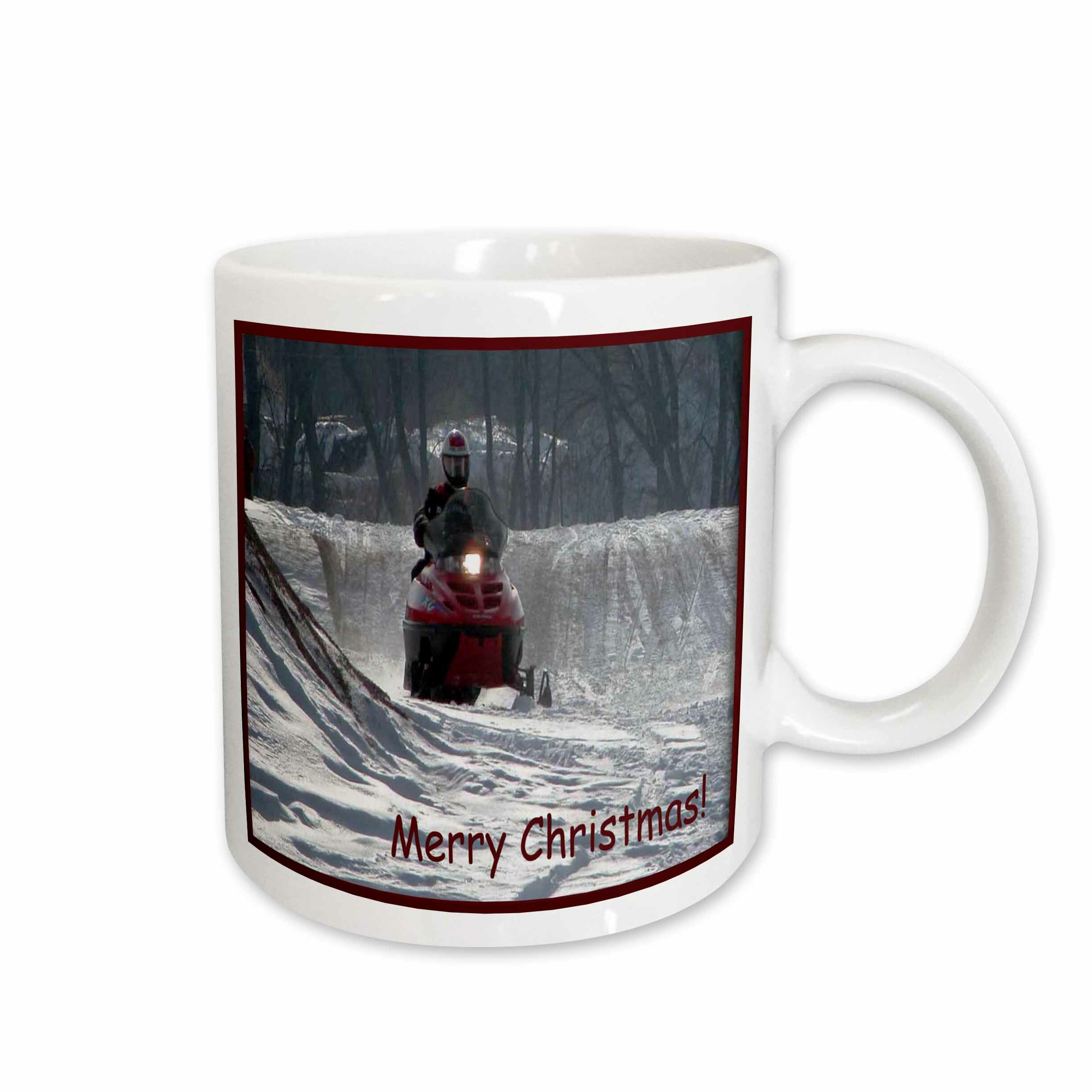 East Urban Home Snowmobile Rider Merry Christmas Coffee Mug Wayfair
