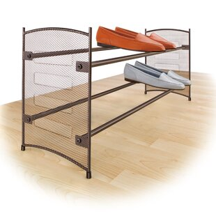 Savings Expandable 12 Pair Stackable Shoe Rack By Lynk®