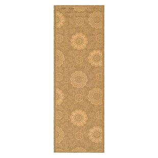 Laurel Light Gold/Natural Outdoor Rug By August Grove