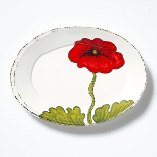 Lastra Poppy Small Oval Decorative Plate & Oval Red Decorative Plates Youu0027ll Love | Wayfair