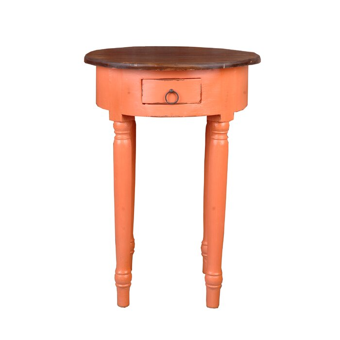 Tompkins Round End Table With Storage