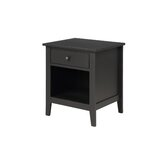 Walterhill 1 - Drawer Solid Wood Nightstand by Red Barrel Studio®