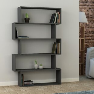 grey weathered bookcase console