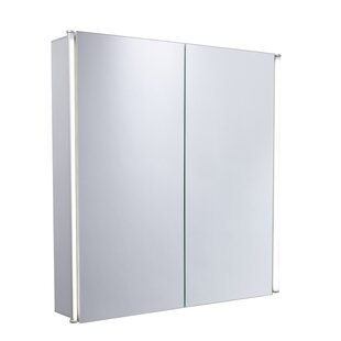 Review Peasely 65cm X 65cm Surface Mount Mirror Cabinet
