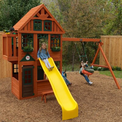 Brockwell Wooden Swing Set KidKraft
