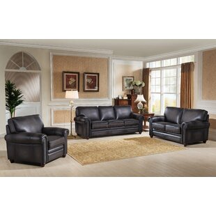 Read Reviews Faringdon 3 Piece Leather Living Room Set by Canora Grey Reviews (2019) & Buyer's Guide