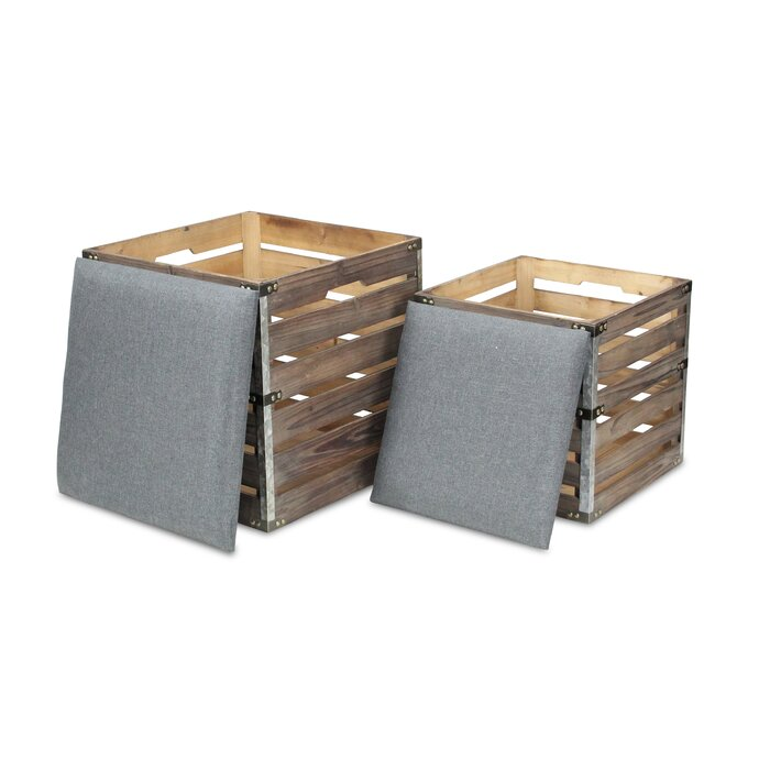 Prime Square Slat Upholstered Storage 2 Piece Bench Set Creativecarmelina Interior Chair Design Creativecarmelinacom