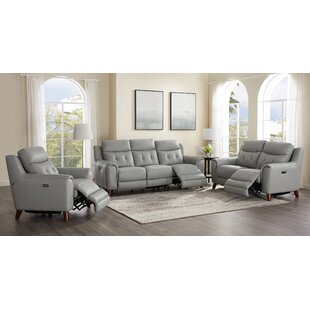 Find a Nagata Leather Reclining Living Room Set by Latitude Run Reviews (2019) & Buyer's Guide