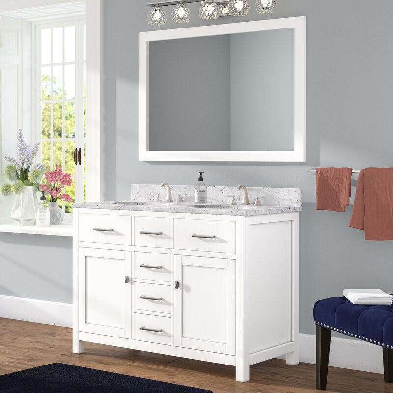 Willa Arlo Interiors Sverre 48 Double Bathroom Vanity Set With Enchanting Bathroom Vanity Double