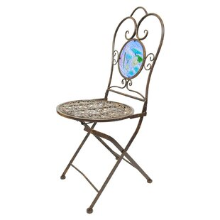 Koi Pond Bistro Folding Patio Dining Chair
