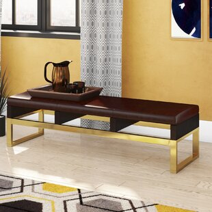 Lower Failand Faux Leather Bench by Ivy Bronx