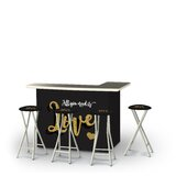 Wodina Valentines All You Need Is Love 5-Piece Bar Set